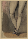 Legs of a standing female figure (Mrs Fitzherbert's legs)