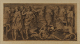 Hunting scene - from a sarcophagus (?)