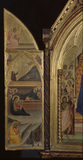 Triptych - Nativity, and two evangelists, and angel of the Annunciation  (left panel)