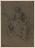Draped female figure