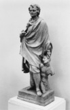 Plaster model for a statue of Pierre Puget
