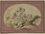 Group of amorini on a cloud