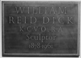 St Paul's Cathedral;The Crypt;Monument to William Reid Dick