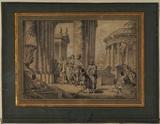 Alexander visiting the Temple of Jupiter