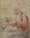 Study for 'The Virgin adoring the Child' (Prado)