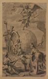 Allegorical scene - Fame posed on the Globe (?)