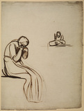 Two studies of seated women