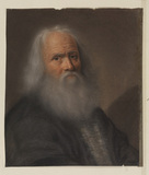 Bust portrait of an elderly man
