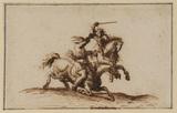 Combat between two horseman