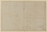 Rough sketch for furniture design (verso)