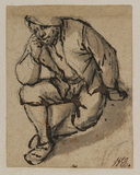 Peasant seated on the ground