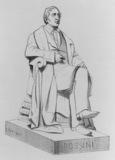 Statue of Rossini for the Paris Opera