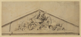 Design for a pediment with ornamental filling (recto)