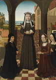 Saint Catherine of Bologna with three donors
