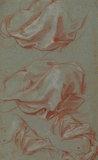 Four studies of drapery