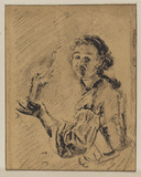 Woman holding a torch