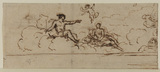Design for a mural painting (recto)