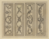 Four decorative panels