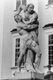 Vranov Castle;Statue of Hercules and Antaeus