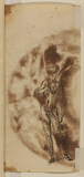 Study of a standing male nude viewed from the front (verso)