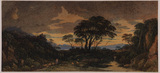Landscape idyll - sunset