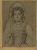 Half-length portrait of a girl