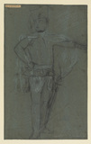 Study for a portrait - military figure