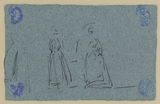 Studies of two female figures (verso)