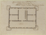 Plan of the second floor of the Villa del Pignetto Sacchetti at Castelfusano, near Ostia