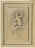 Nude female figure with an eagle