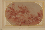 Design for a ceiling decoration with Saint Cecilia in Glory
