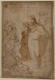 Saint Zenobius raising a dead child (recto)
