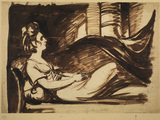 Study for the portrait of a lady reclining on a couch - Lady Hamilton (?)