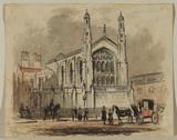 French Protestant church at Aldersgate (recto)