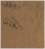 Studies of hands - study for 'Duncan Gray', 1814 (Victoria and Albert Museum) (recto)