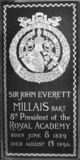 St Paul's Cathedral;The Crypt;Floor slab commemorating Sir John Everett Millais