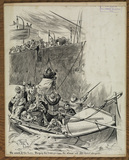 Wreck of the Eider - slinging the passengers from the steamer into the lifeboat aside