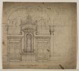 Elevation of a wall of a room (recto)