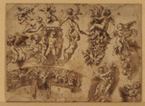 Sheet of studies of ornamental motifs