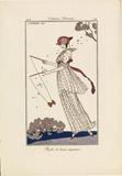 Journal des Dames et des Modes No. 46, 1913, Plate 104, Costumes Parisiens - Robe de linon imprimé