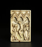 Right leaf of ivory diptych with The Crucifixion