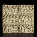 Ivory diptych with scenes from the Childhood and Passion of Christ