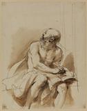 Seated figure of Saint Jerome