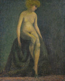 Nude with blonde hair