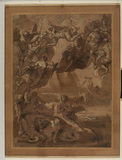 Partial copy after Tintoretto's 'Last Judgment' (Santa Maria dell'Orto, Venice)
