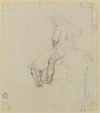 Study of man on horseback (verso)