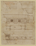 Study of four entablatures (verso)