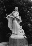 Joan of Arc Lifting the Sword of France