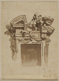 Designs for the pediment above a door
