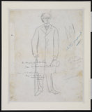 Full length standing male figure (verso)